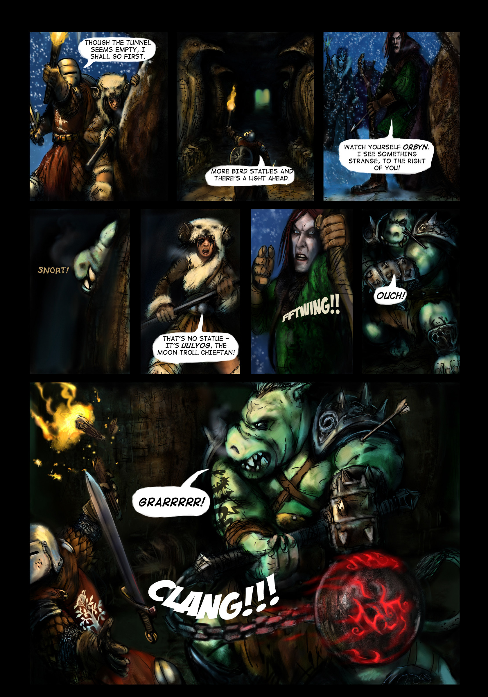 Fantasy Christmas Comic p3