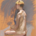 life drawing in pastels 'Agnes' 13-10-2016