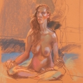 life drawing in pastels 'Chloe' 29-09-2016