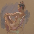 life drawing in pastels 'Tara' 20-10-2016