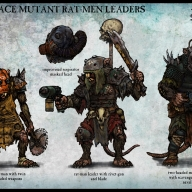 Concepts for how Rat-men could be done in Warhammer 40,000