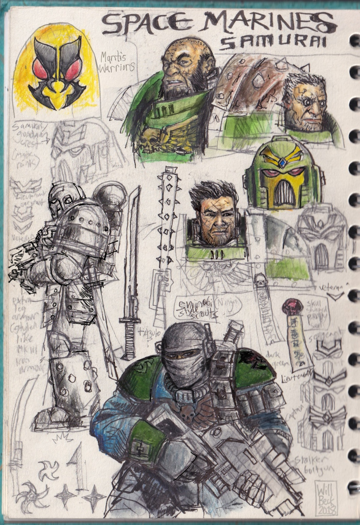 Sketchbook-May2018-Space-Marines-Samurai