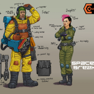 Colony 87 Spaceship Breaker family - father, daughter