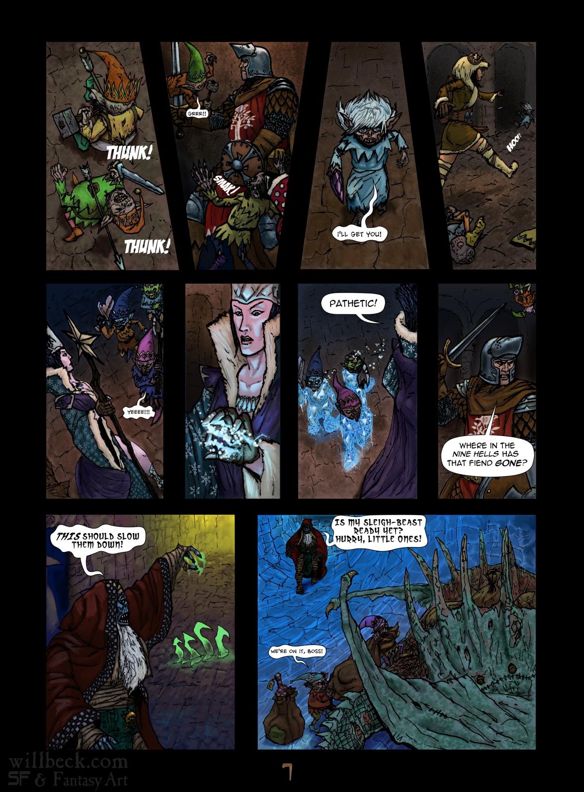 Fantasy Christmas comic p7
