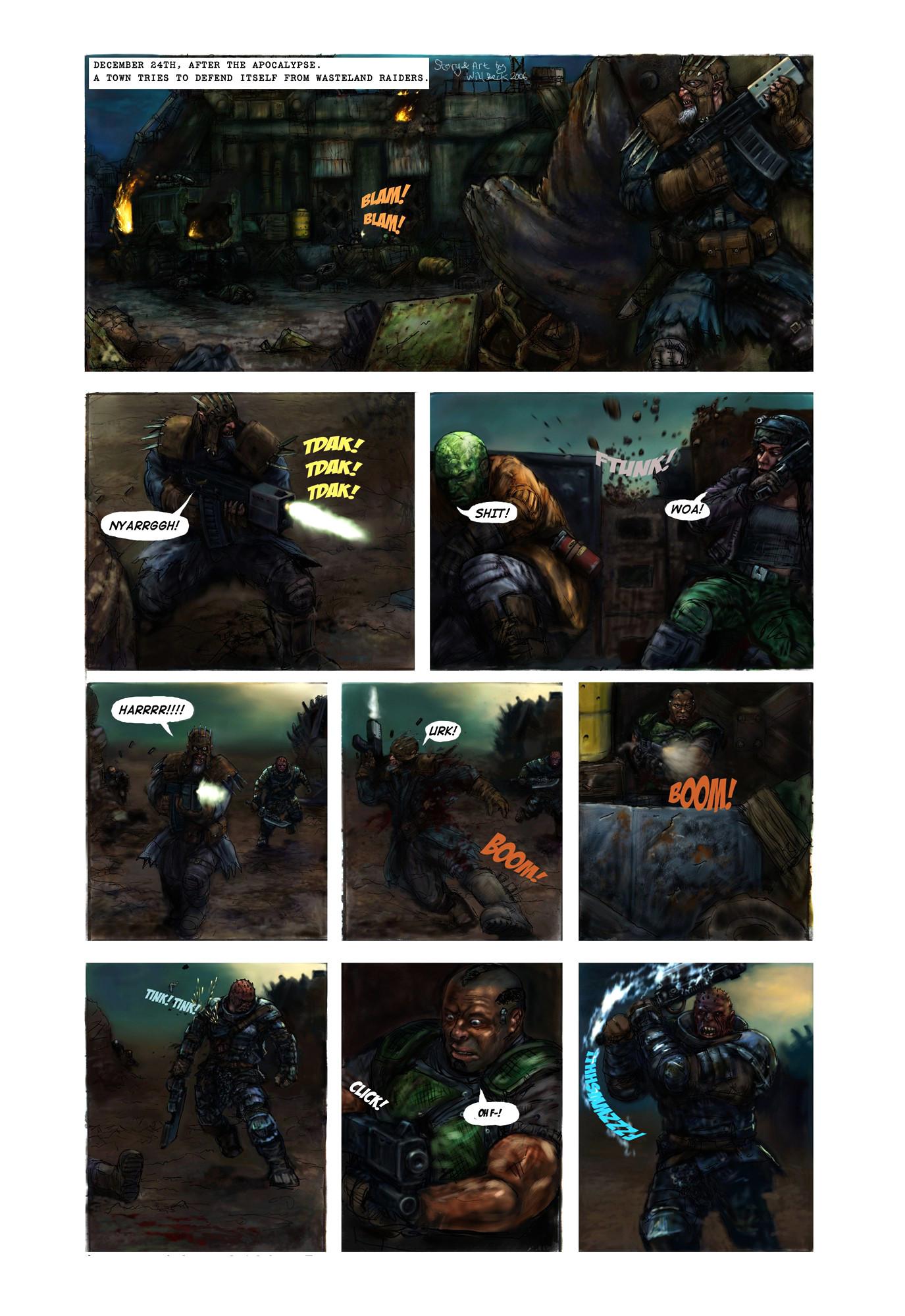 Post Apocalypse Christmas Comic p1