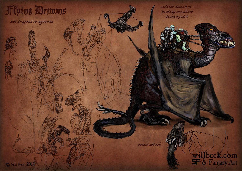 Demons-flying