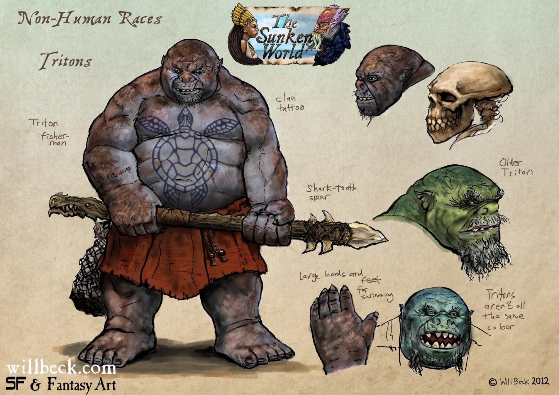 Sunken World Non Human Races - Tritons 1