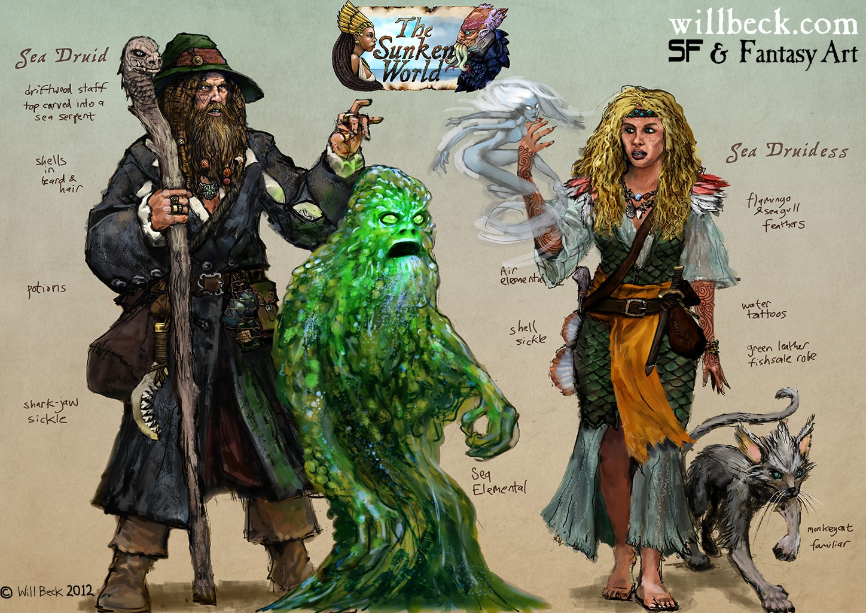 Sunken World Sea Druid and Druidess