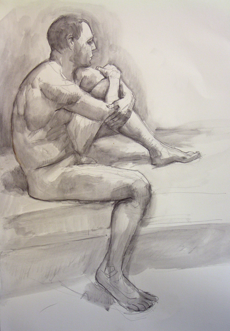 2009 pen and wash life drawing