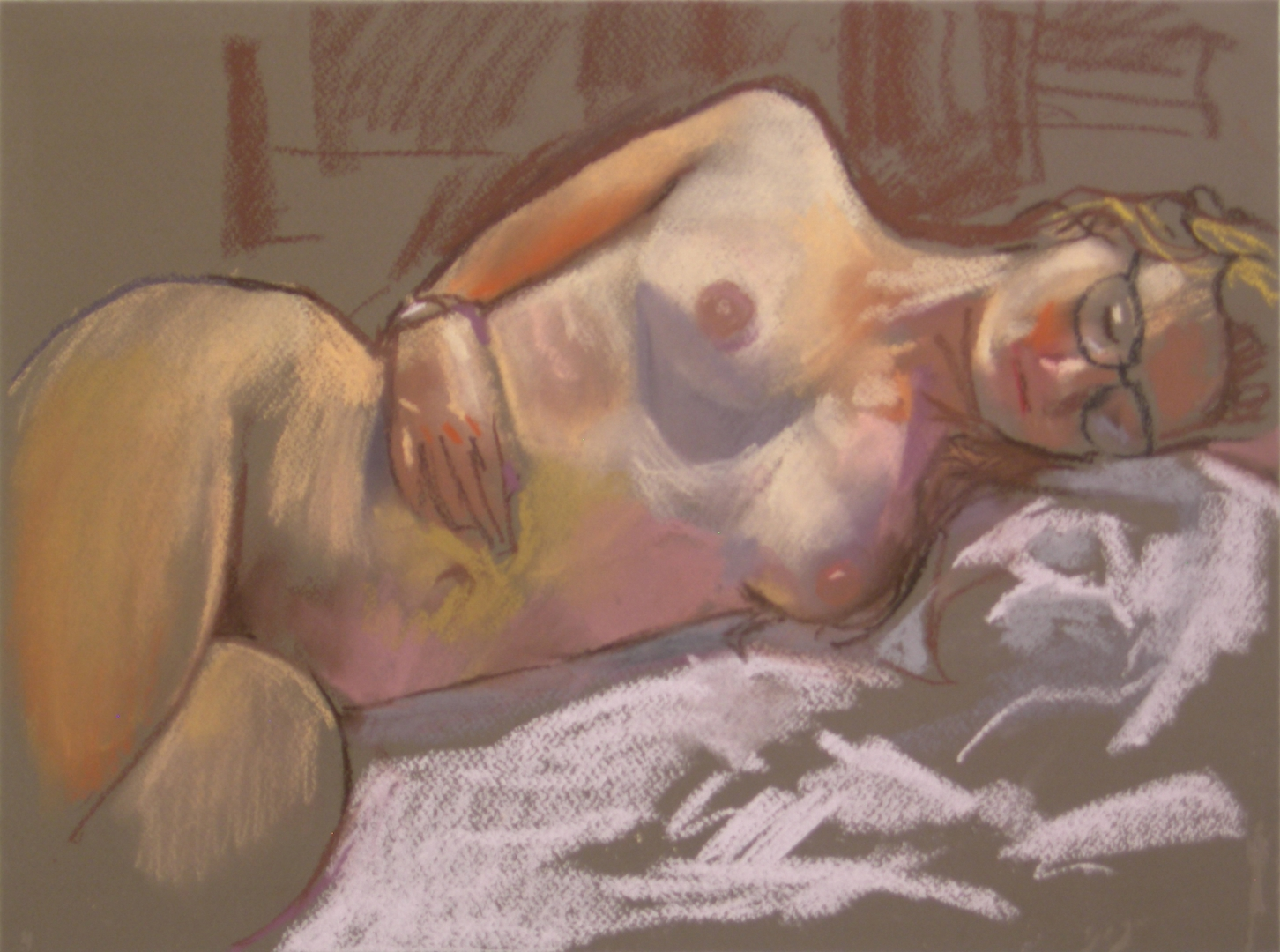 life drawing in pastels - 'Felicity' 28-07-2016