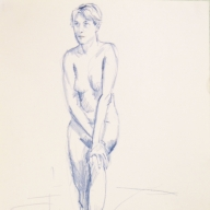 life drawing in coloured pencil - 'Agnes' 13-10-2016 (2)