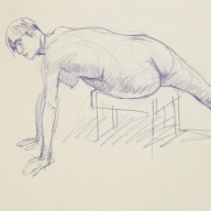 life drawing in coloured pencil - 'Agnes' 13-10-2016