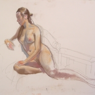 life drawing in pastels - 'Ally' 30-06-2016