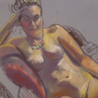 life drawing in pastels - 'Felicity' 21-07-2016