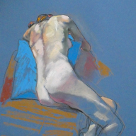 life drawing in pastels -  'Rebel' 28-10-18