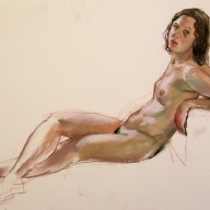 life drawing in pastels on cartridge paper - 'Kat' 06-04-17