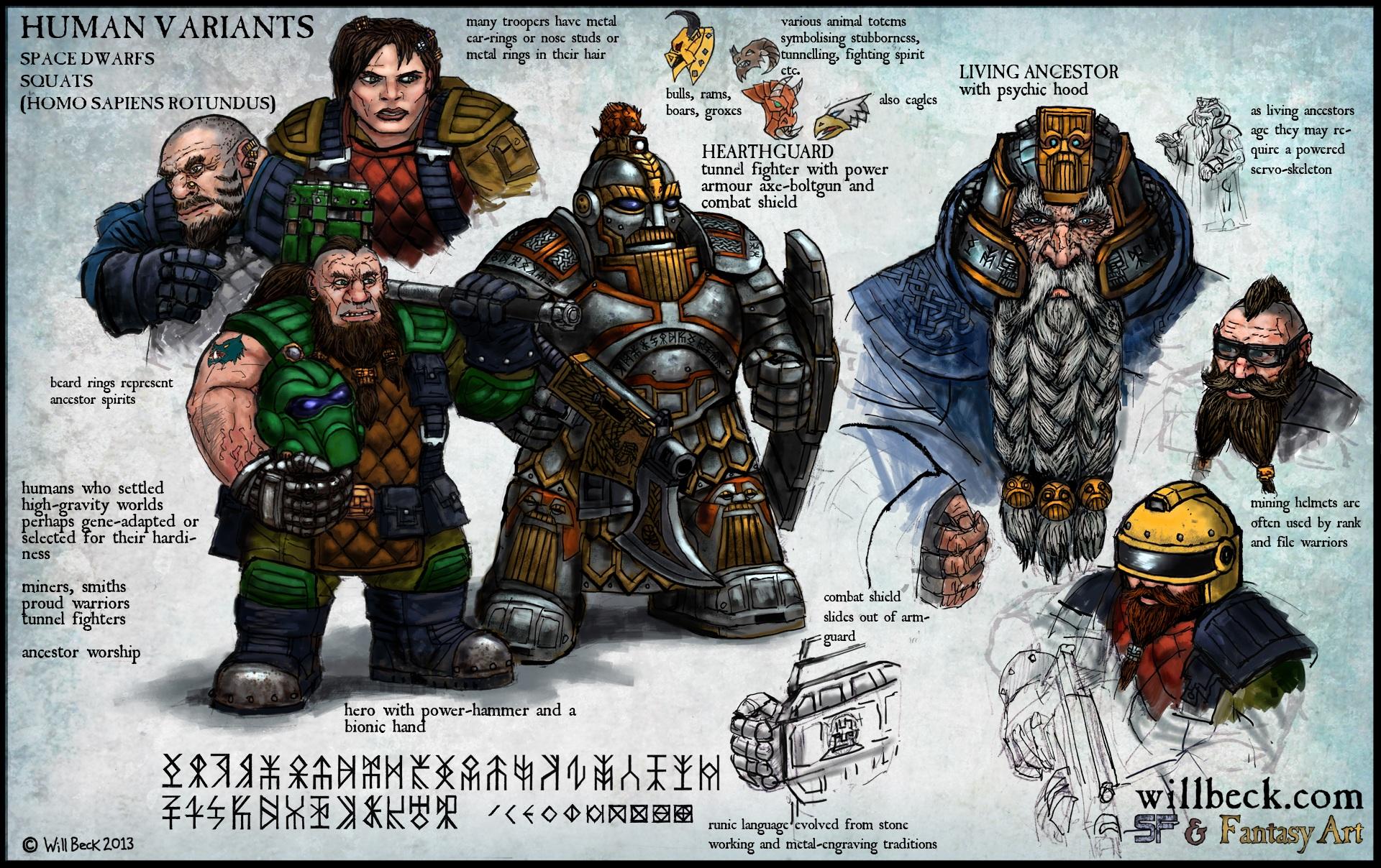 Human variant or 'morph' - Space Dwarf