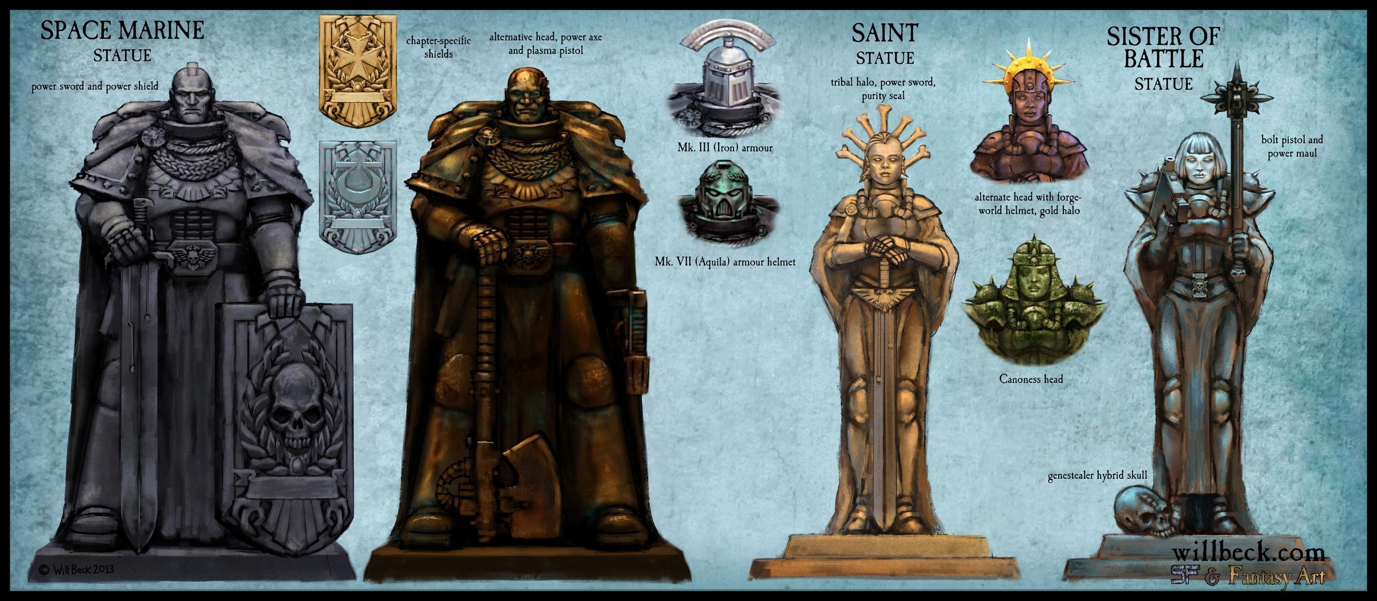 New Warhammer 40,000 statue ideas