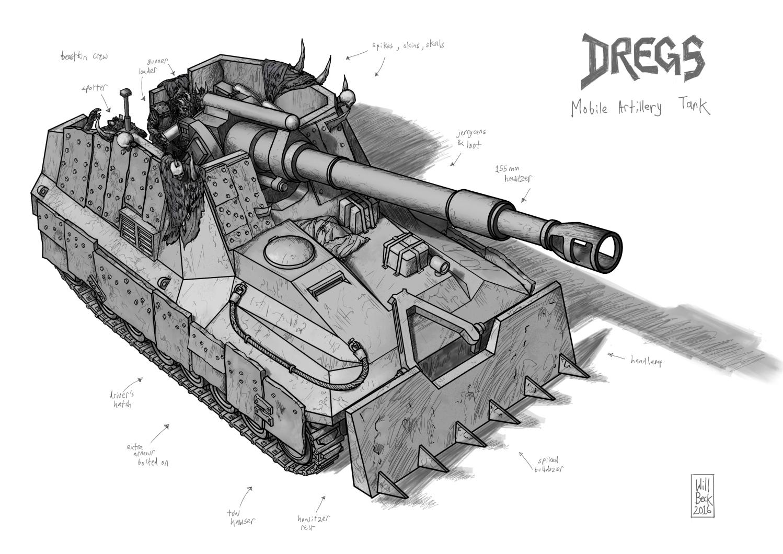 Dregs Mobile Artillery Tank