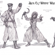 Dark Elf Winter War Command