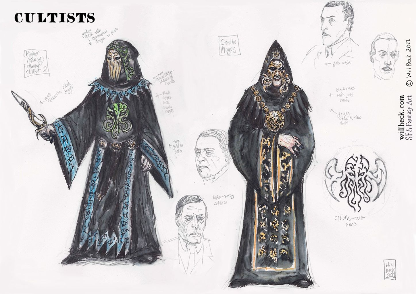Call of Cthulhu high-ranking cultist and cult leader