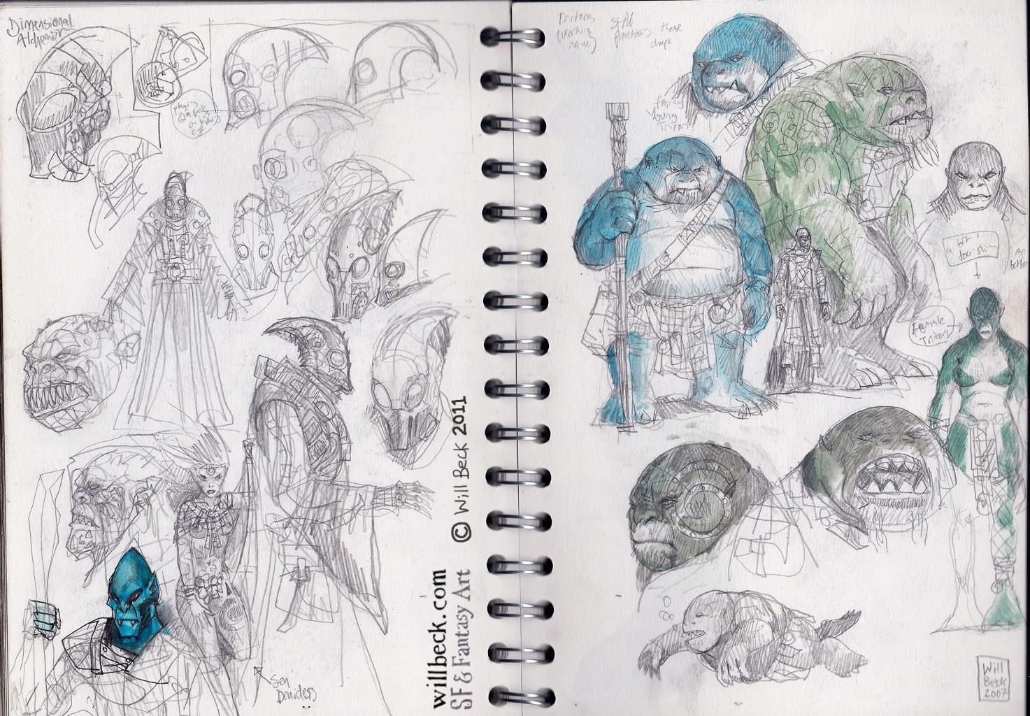 Sunken World creatures