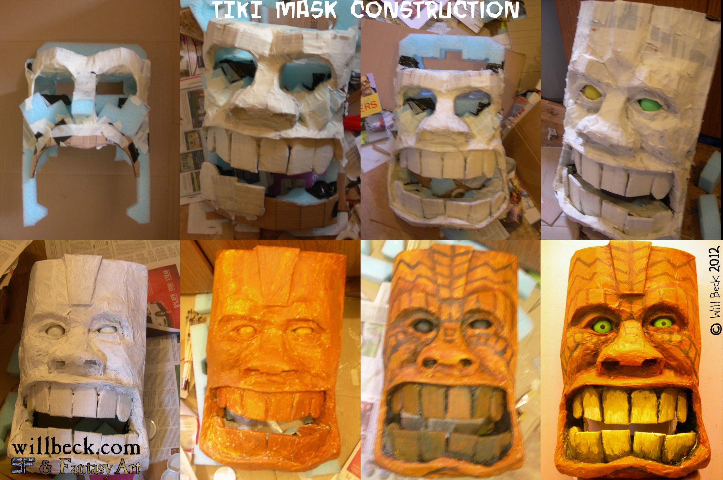 Tiki mask construction