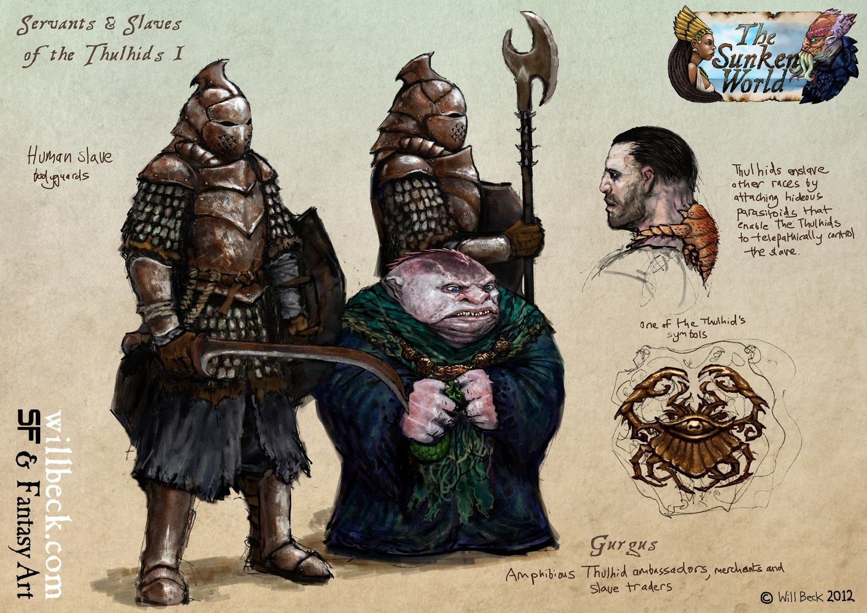 Thulhid slaves and servants