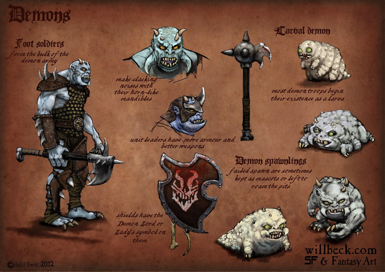 Soldier demon designs