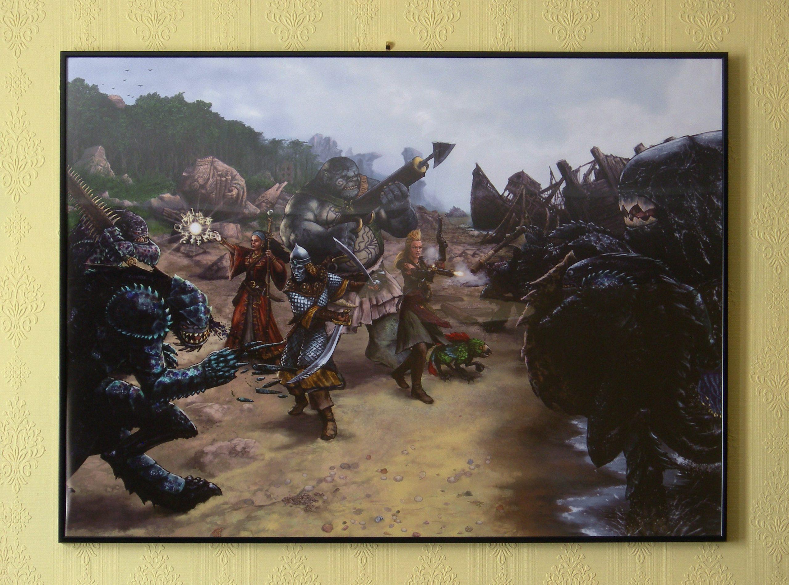 Sunken World Fight Poster